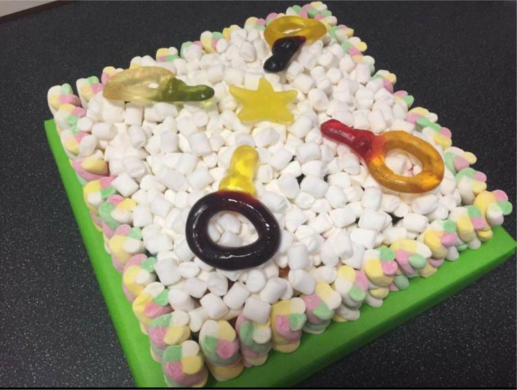 Square Sweet Cake
