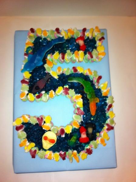 Th Birthday Boys Cake Made Of Sweets Dartford PreFilled Sweet - 5th birthday cake boy