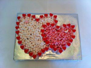 Double Heart Sweet Cake