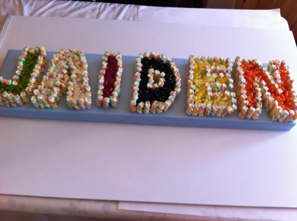 Name Cake Made Of Sweets Dartford Dartford Pre-Filled ...