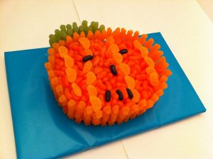 Pumpkin Cake Made Of Sweets