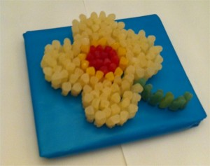 Flower made of sweets