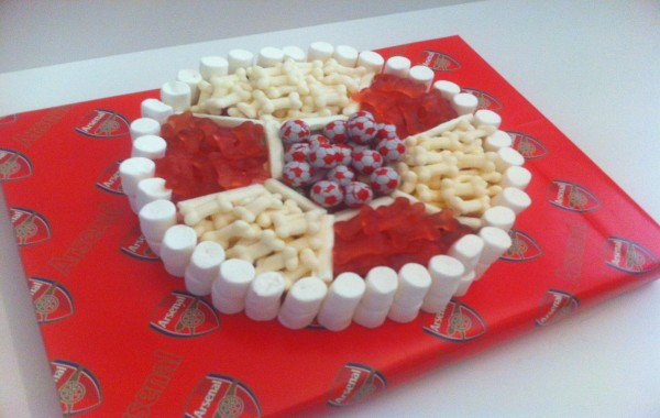 Arsenal Football Made of Sweets