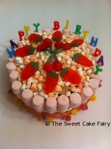 Birthday Cake Made of Sweets