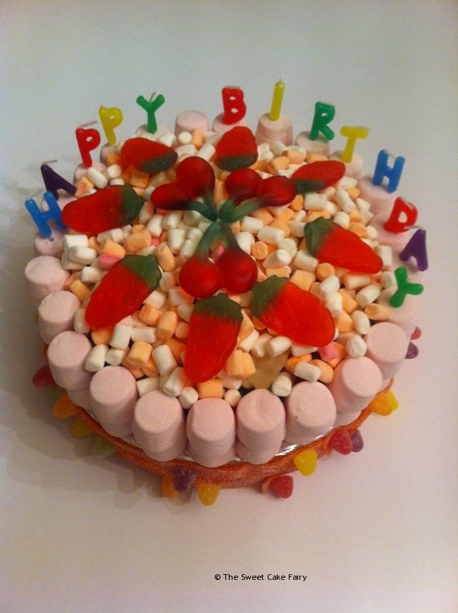 Cake Images Sweets : Birthday Cake Made Of Sweets Dartford Pre-Filled Sweet ...