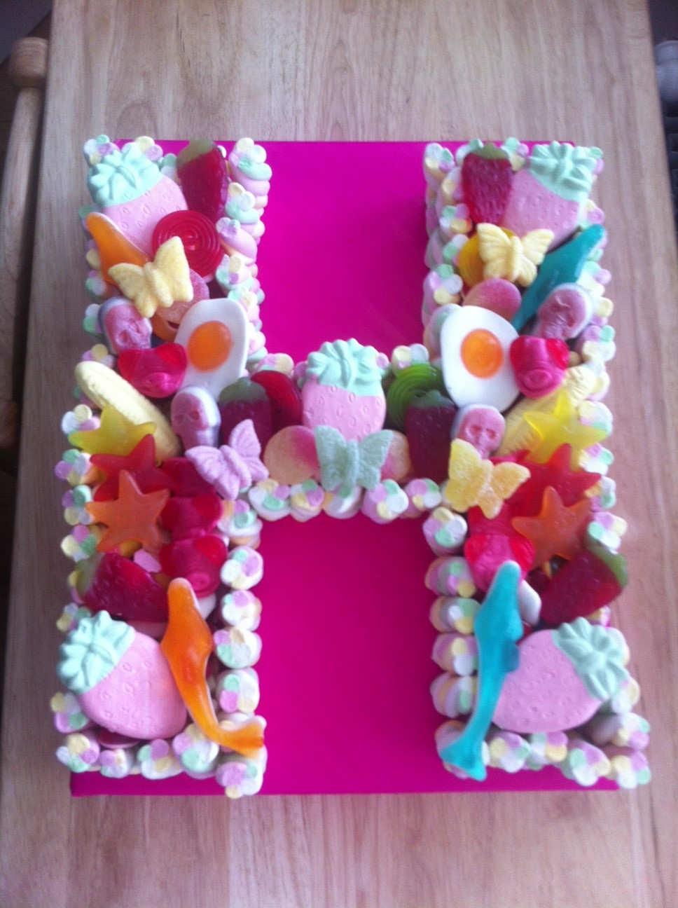 Cake Design Letters : Gallery 6 Cakes Made Of Sweets - Call FREE 0800 756 5545