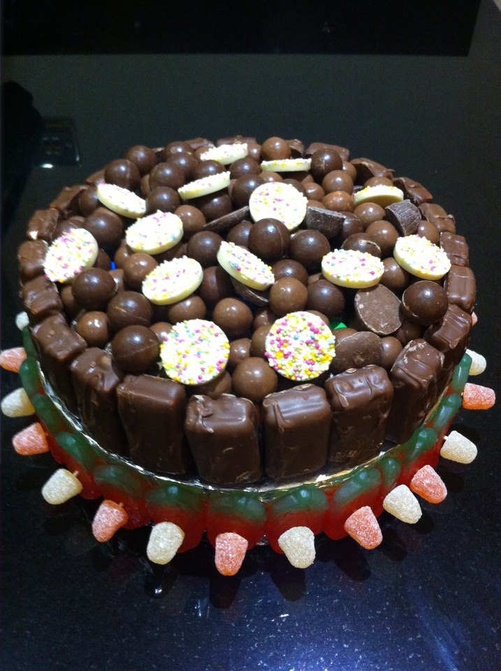Chocolate Cake Filled With Sweets