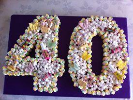 40th Sweet Cake
