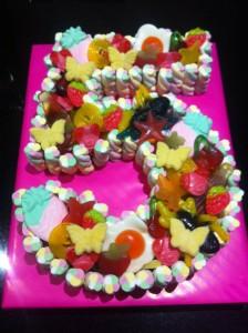Number 5 Sweet Cake