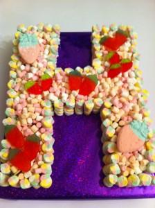 Letter H Sweet Cake