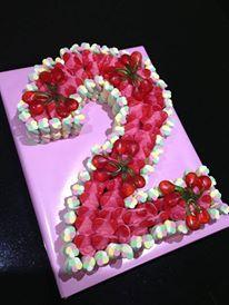 Number 2 Sweet Cake