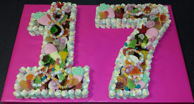 Number 17 Birthday Cake