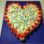 Heart Cake Made of Sweets