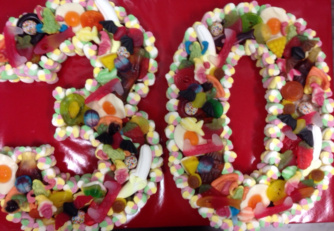 50th Birthday Cake Made of Sweets Dartford Orpington ...