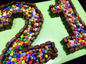 Double Chocolate Cake 21st Birthday