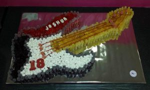 Guitar sweet cake