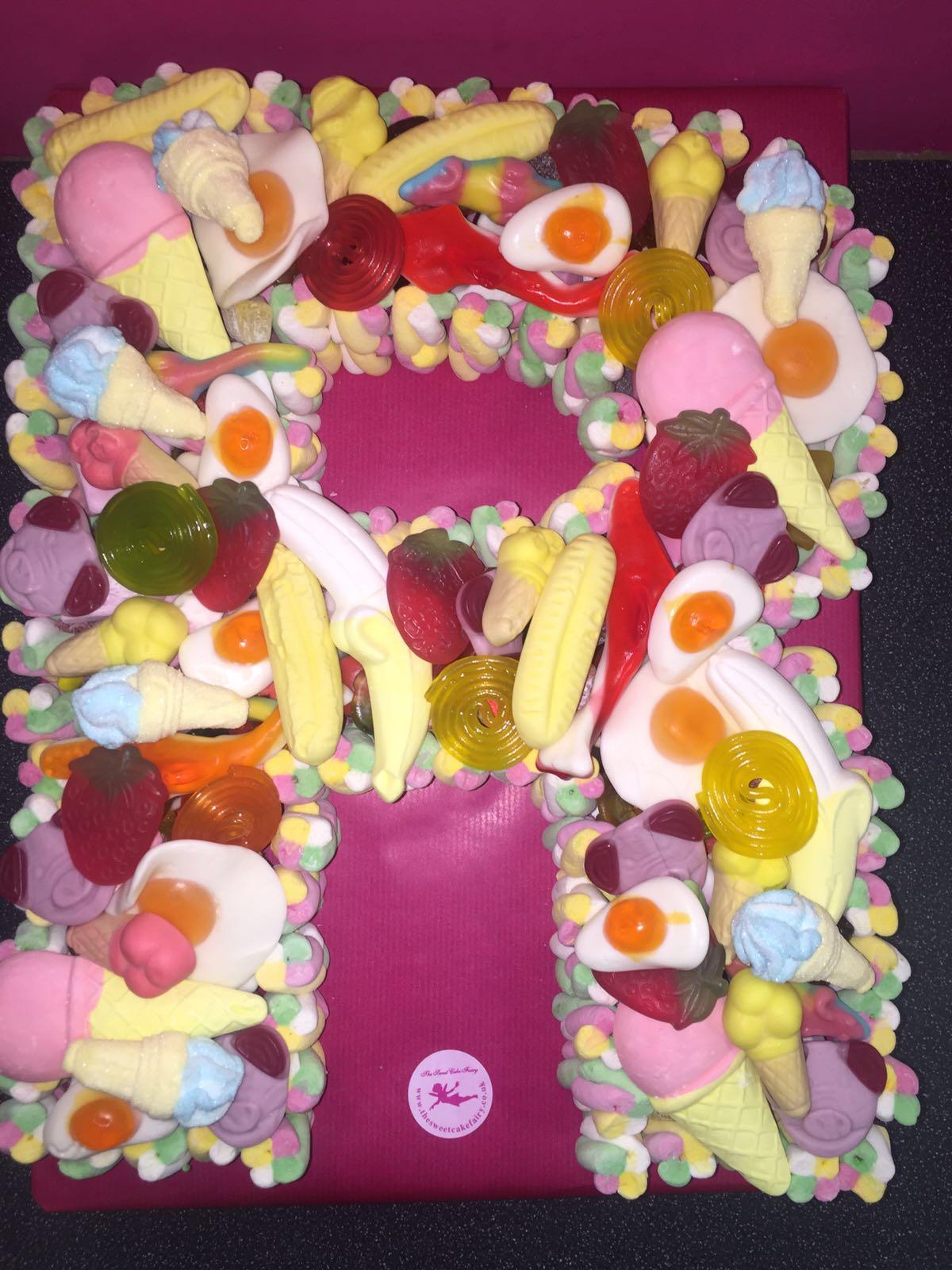 Single Letter Sweet Cake Dartford Pre Filled Sweet Cones