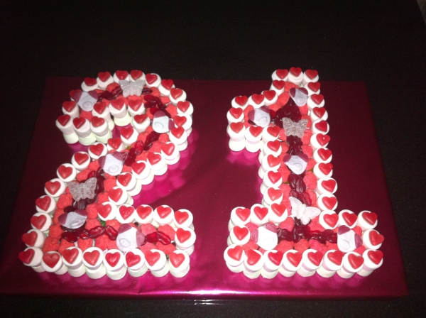 21st Birthday Sweet Cake Dartford PreFilled Sweet Cones Sweet Cakes