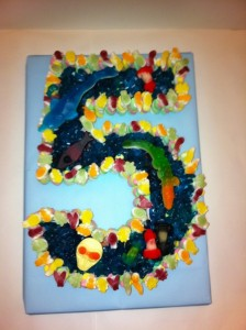 5th Birthday Boys Cake Made of Sweets