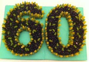 60th Birthday sweet cake