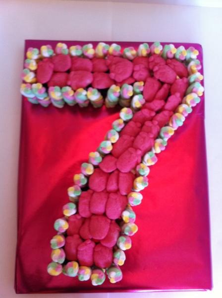 7th Birthday sweet cake