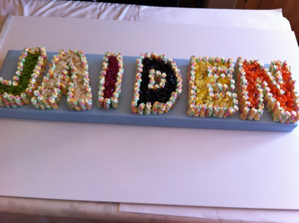 Name Cake Made Of Sweets Dartford
