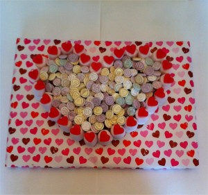 Love Heart Made of Sweets