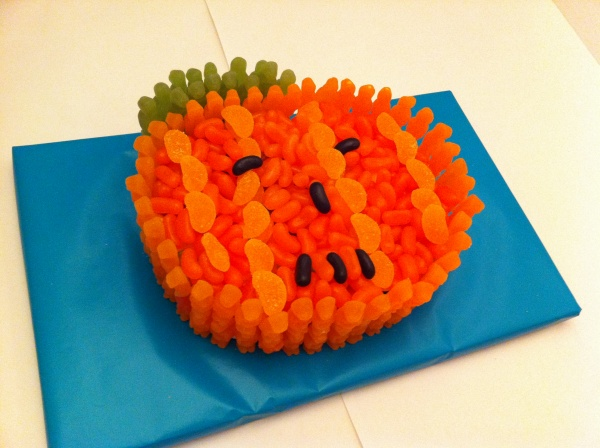 Pumpkin Cake Made Of Sweets