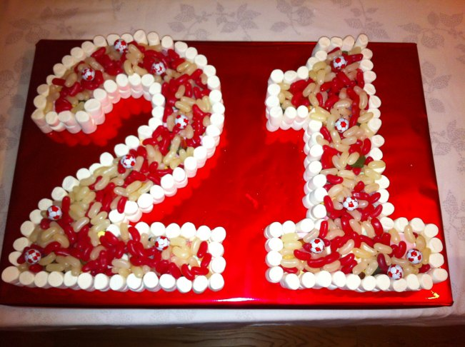 21st Birthday Cake Made Of Sweets Dartford Pre Filled