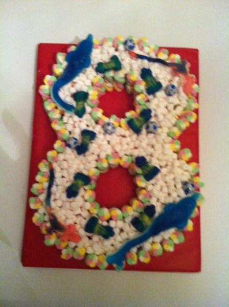 8th Birthday sweet cake boy