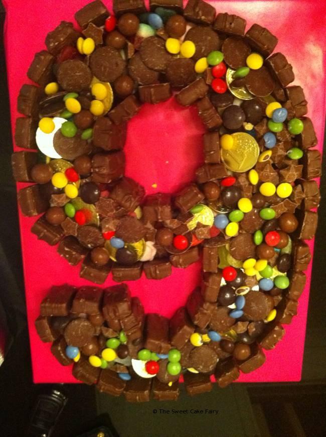 9th Birthday chocolate sweet cake