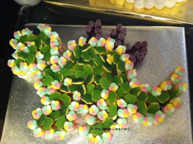 Dinosaur made of sweets
