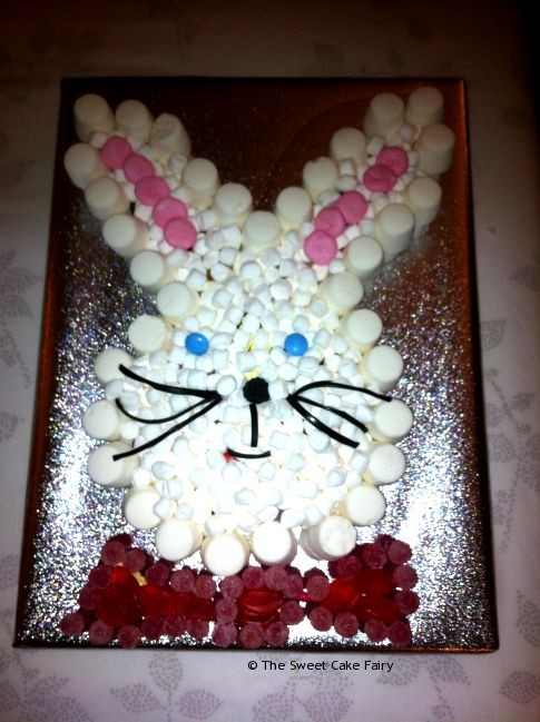 Easter Bunny Cake Made of Sweets