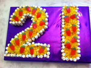 21st Birthday Sweet Cake