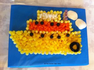 Boat Cake Made of Sweets