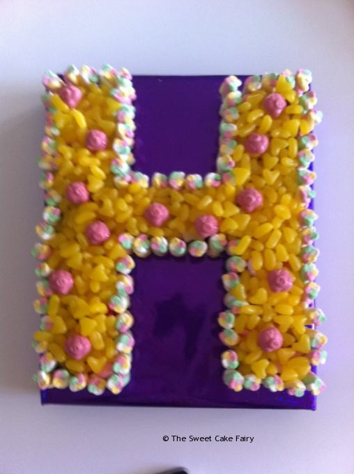 letter cakes made of sweets inside