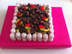Square Cake Made of Sweets