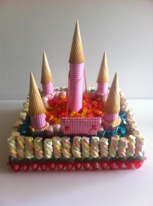 Princess Castle Made of Sweets