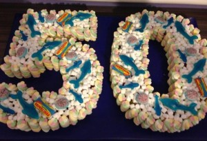 50th Birthday Cake Made of Sweets