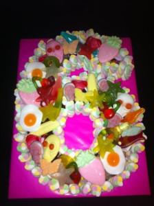 Number 6 Sweetie Cake