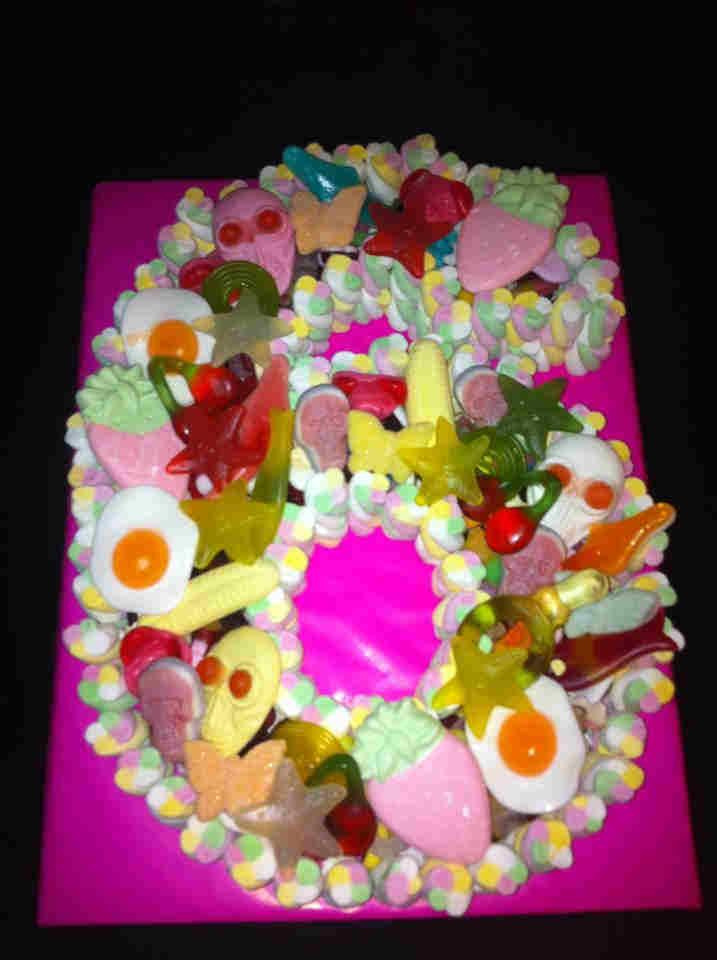 Number 6 Sweetie Cake Dartford Pre Filled Sweet Cones Sweet Cakes