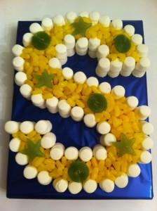 Letter S Sweet Cake