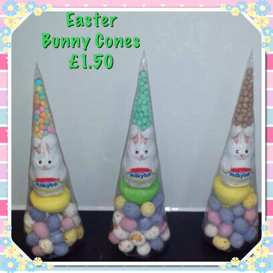 Easter Cakes Made Of Sweets Call Free 0800 756 5545