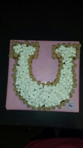 Horseshoe made of sweets