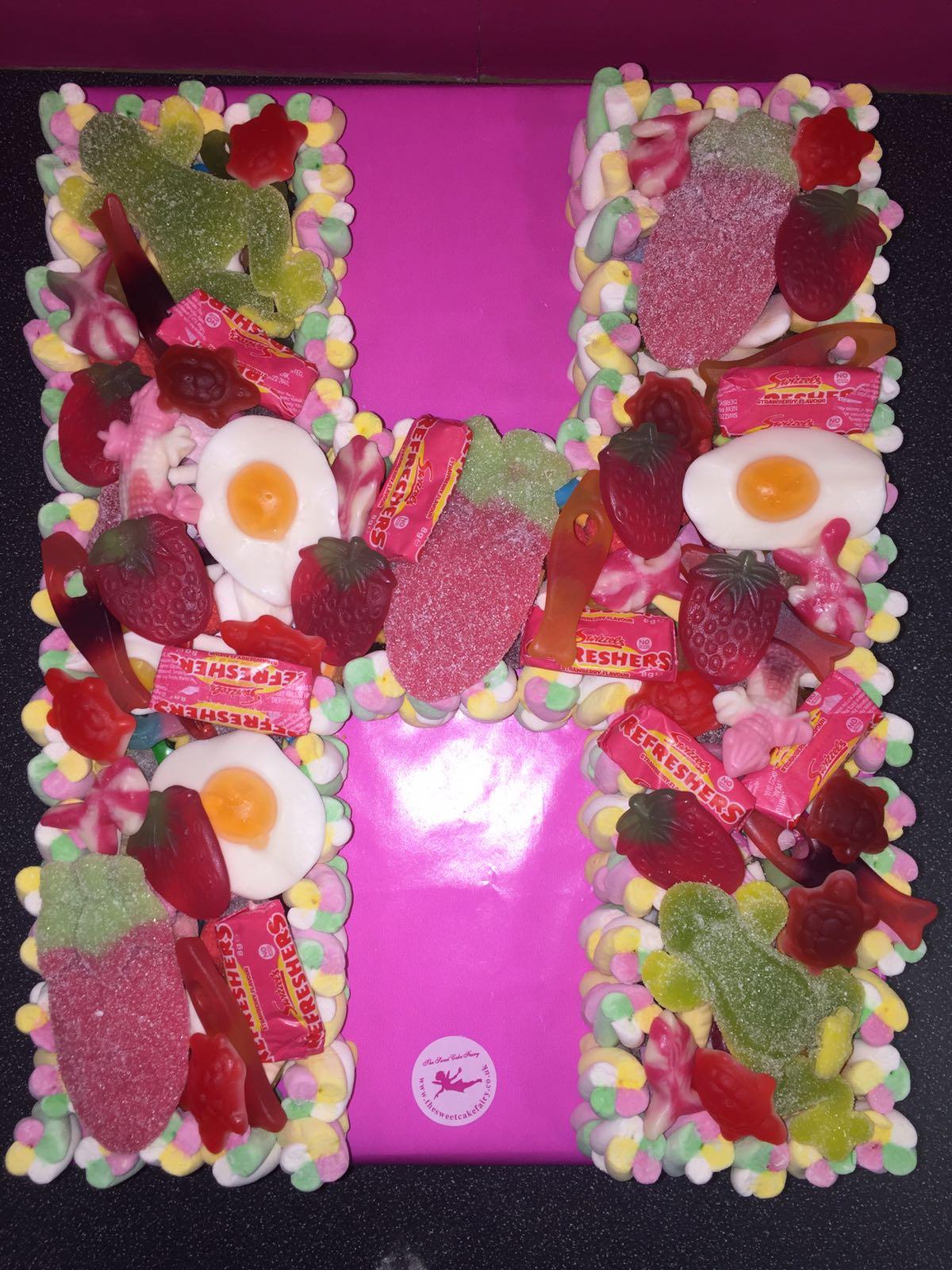 Single Letter Sweet Cake | Dartford Pre-Filled Sweet Cones & Sweet Cakes