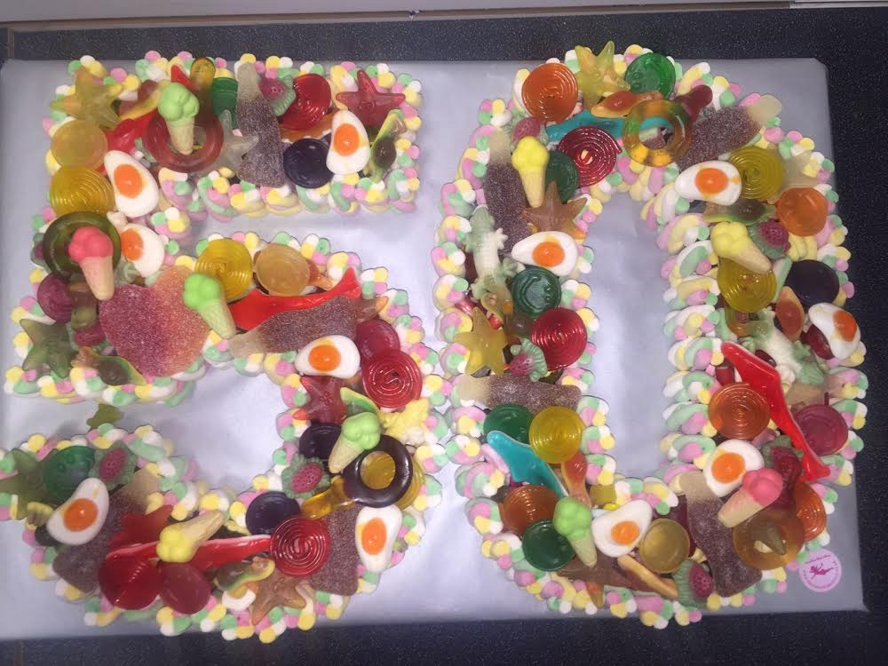 Jelly Sweets Birthday Cake