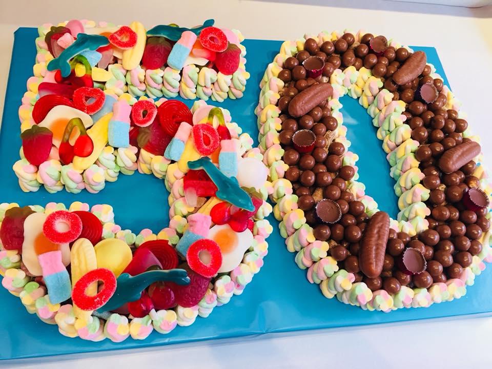 Sensational Double Number Or Letter Sweet Cake Sweet Cakes Sweet Cones Personalised Birthday Cards Xaembasilily Jamesorg